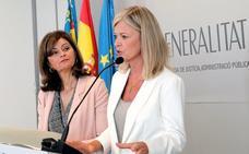 Mónica Oltra arremete en público contra la consellera Gabriela Bravo por la futura comisaría de violencia de género
