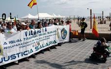 Guardias civiles y policías reclaman en Valencia la equiparación salarial