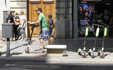 Los peligros de circular en patinete en Valencia