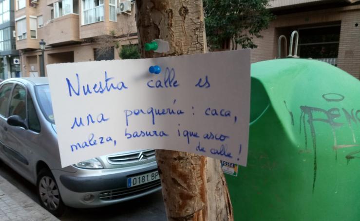 Protestas de vecinos por el abandono de alcorques en Valencia