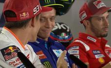 Valentino Rossi se niega a darle la mano a Marc Márquez