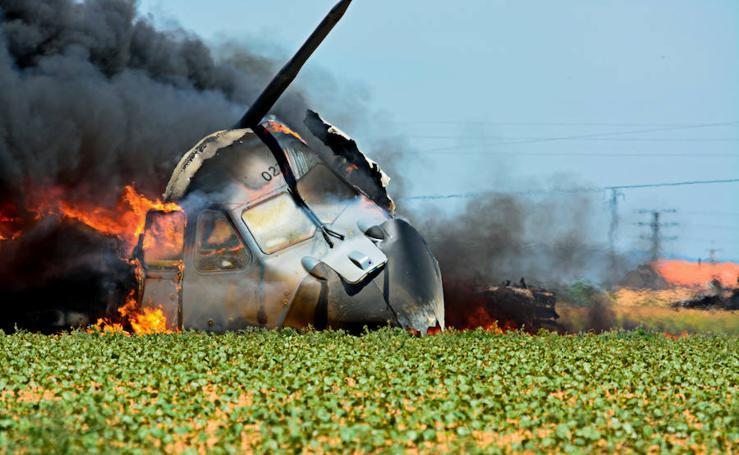 Fotos inéditas del accidente de avión del Airbus militar de Sevilla