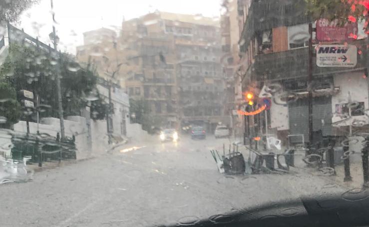 Fotos del temporal de lluvia y granizo en la Comunitat
