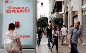 Un teléfono ha sonado cada 10 minutos hoy en una cabina de la calle Colón de Valencia