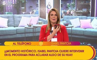 Isabel Pantoja estalla en 'Sálvame' en directo para hablar de su hija Chabelita