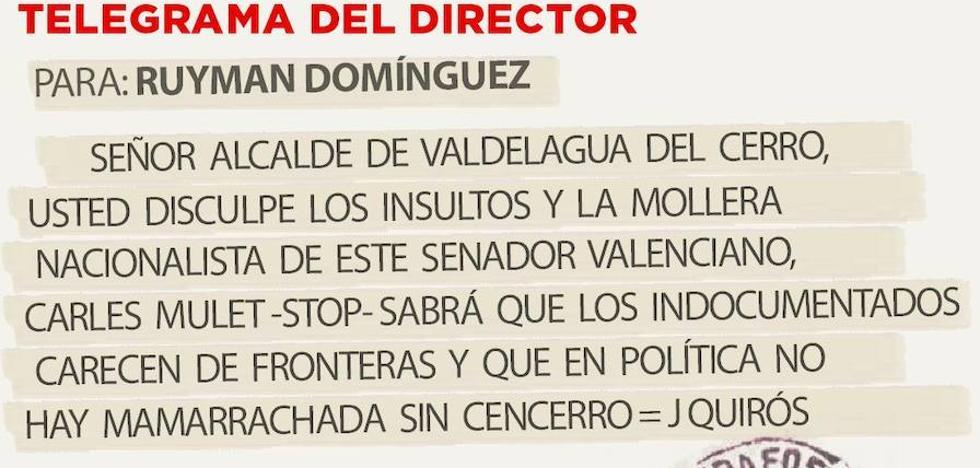 Telegrama para Ruyman Domínguez