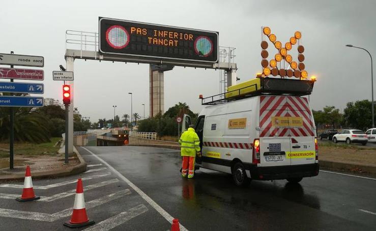 Gota fría en Valencia: fuertes tormentas en la ciudad y el área metropolitana