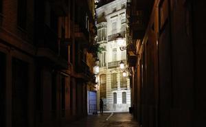 El centro histórico se queda a media luz
