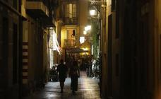 El centro histórico de Valencia se queda a media luz