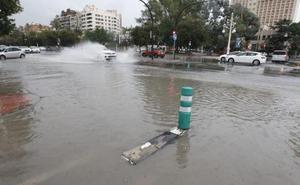 La tormenta barre la ciudad de Valencia y dejan hasta 41 litros en Blasco Ibáñez