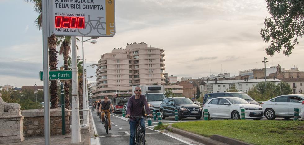 El Ayuntamiento de Valencia instala el primer contador en directo de bicis