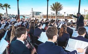 Las bandas, protagonistas en la Marina de Valencia
