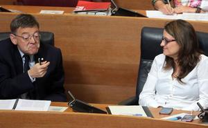 Puig declara un sueldo de 74.000 euros y Oltra de 56.000 en 2017