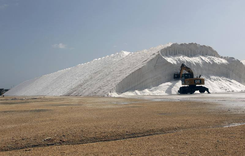 La única espuma de sal que existe en el mundo se produce en el parque natural de las salinas de Santa Pola