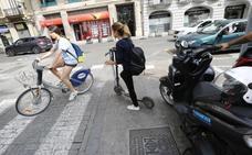 El Ayuntamiento de Valencia, dispuesto ahora a permitir los patinetes de alquiler antes de cambiar la ordenanza