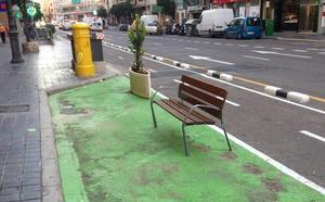 San Vicente: la calle verde pierde su color