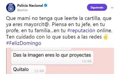 Uno de los tuits de la Policía Nacional que más críticas ha recibido
