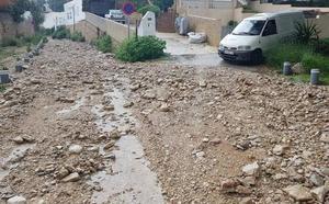 Las lluvias golpean la Comunitat: 40 litros en Algemesí, rescatados en Benidorm y una manga marina en Cullera