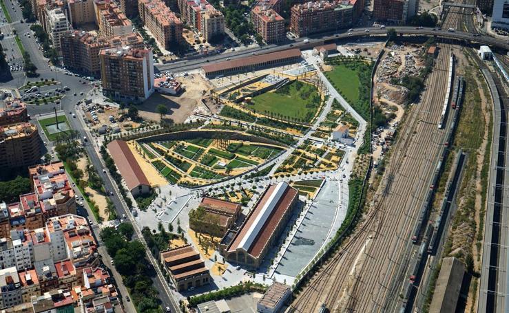 Parque central de Valencia: vistas aéreas y detalle de las instalaciones