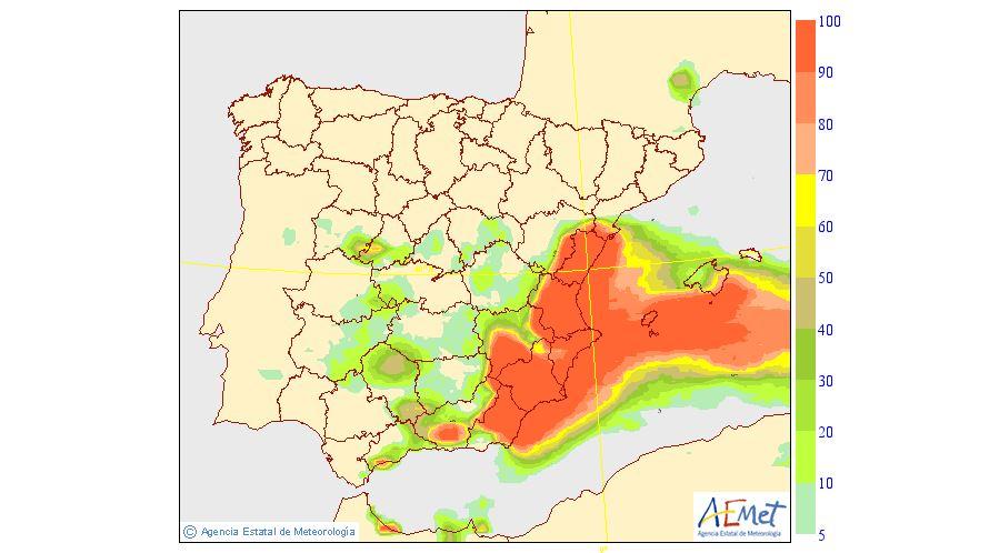 La previsión del tiempo de hoy, hora a hora: se activa la alerta por lluvias de 60 l/m2