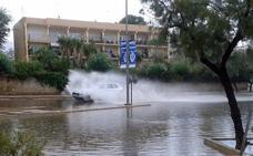 Las lluvias se desatan con fuerza en Valencia