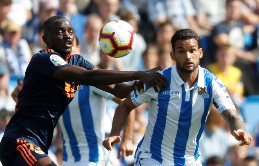 El Real Sociedad-Valencia CF en imágenes