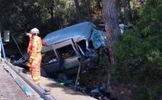 Muere un hombre tras chocar contra un árbol la furgoneta en la que viajaba en Utiel