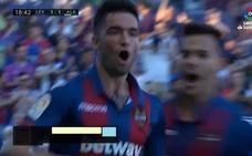 Así marcó Jason el 1-1 en el Levante-Alavés