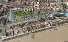 Ribó avala el hotel de 15 plantas del plan del Cabanyal