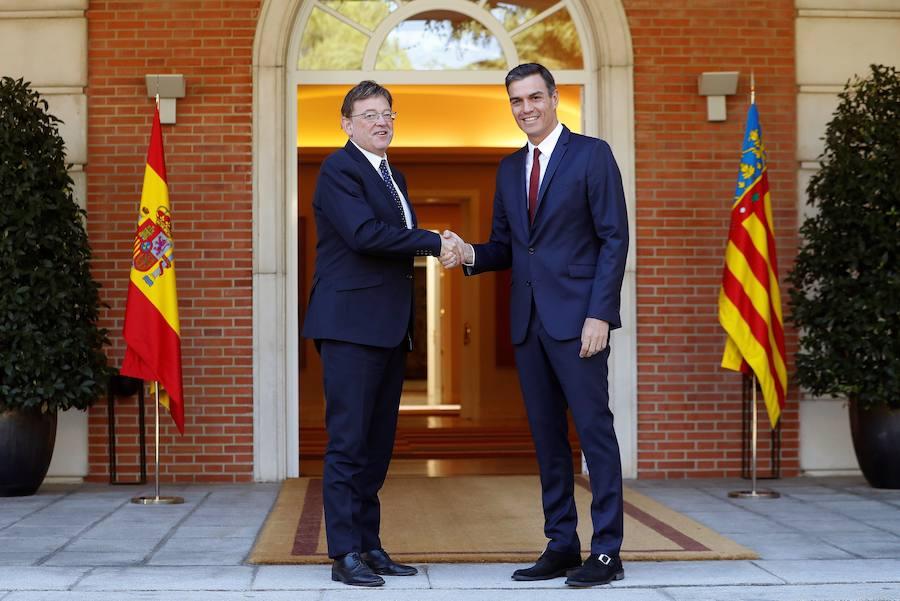 Encuentro entre Ximo Puig y Pedro Sánchez en La Moncloa