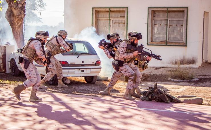 La Policía Militar se ejercita en Bétera dentro de las maniobras de la OTAN en Europa