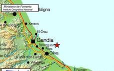 Oliva registra un terremoto de 2,6 grados