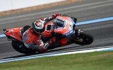 Lorenzo: «Las posibilidades no son muy altas de que coja la moto mañana»