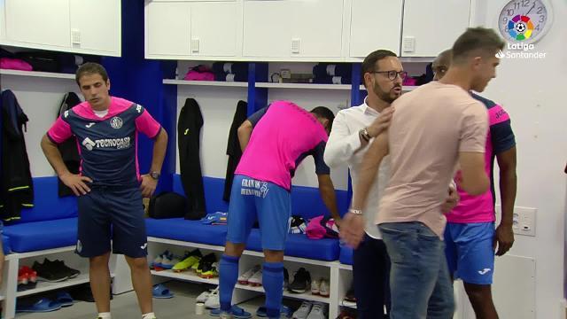 Arenga de Pepe Bordalás a sus futbolistas