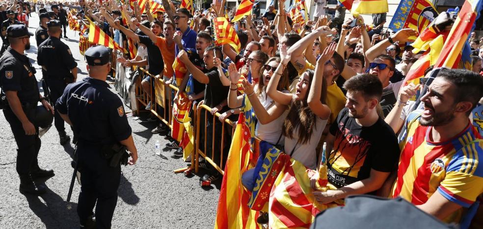 Seis manifestaciones y tres concentraciones en la celebración del 9 d'Octubre