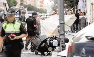 La mitad de los muertos en carretera en la Comunitat son peatones, ciclistas y motoristas