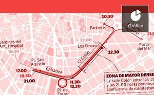 Cuatro manifestaciones y una concentración para la tarde del 9 d'Octubre en Valencia