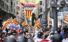 Valencia se convierte en un 'manifestódromo' el 9 d'Octubre
