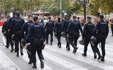 Contundente dispositivo policial en los actos del 9 d'Octubre
