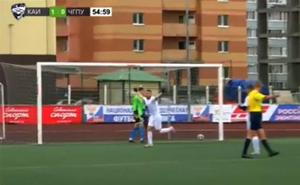 El espectacular penalti de un futbolista del Rubin Kazán