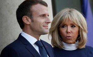 La bronca de Macron con su esposa