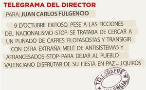 Telegrama para Juan Carlos Fulgencio
