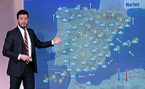 Los nuevos mapas del tiempo en TVE molestan a espectadores y presentadores