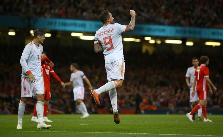 Las mejores imágenes del Gales-España