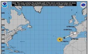 El huracán Leslie cruzará España esta noche y provocará fuertes lluvias y rachas de viento