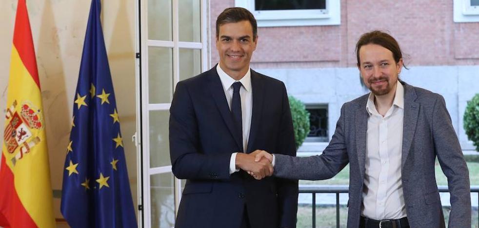 Iglesias ensaya con Sánchez un futuro Gobierno de coalición