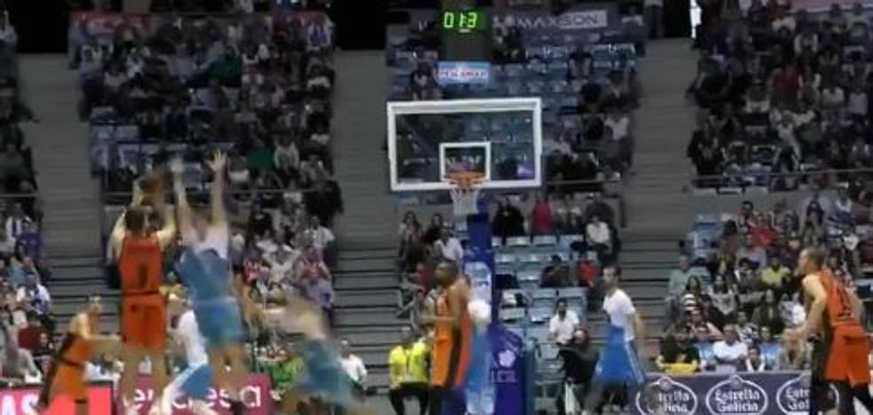Vídeo | El triple ganador de Van Rossom en el último segundo del Obradoiro-Valencia Basket