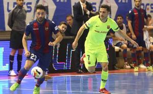El Levante FS pone contra las cuerdas al Barça pero pierde