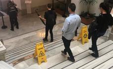 Goteras en el Ayuntamiento de Valencia tras el paso de la gota fría