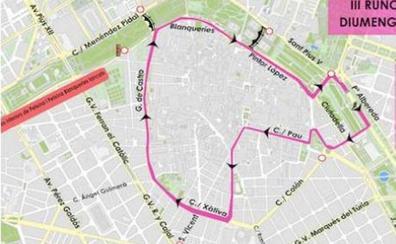 Horario, actividades y calles cortadas en Valencia el domingo por la carrera 'Valencia contra el cáncer'